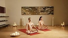 Full nude yoga