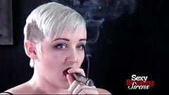 Cigar Smoking Fetish - Punk Rock Blonde Smokes a Cigar
