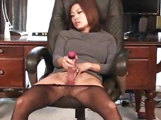 Asian seamless pantyhose with dildo PJM