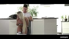 XxxShades - Erotic kitchen sex with beautiful Slovakian babe