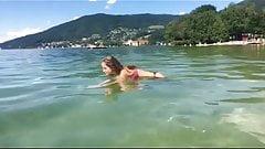 Hot Bikini Teen diving