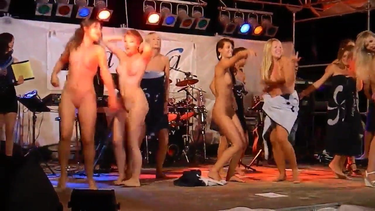 Nude Female On Stage