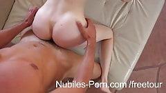 Nubiles Porn - Perky tit amateur goes hardcore