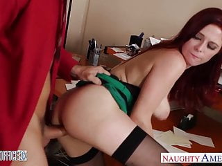 Preview 5 of Redhead cutie in glasses Penny Pax fuck in the office