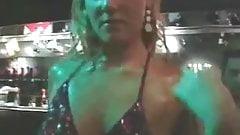 big orgy in night club