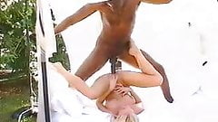 Blonde czech girl with black man