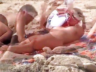 Nude Beach - Big Naturals Couple