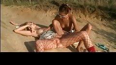 Teen Lesbians on the Beach