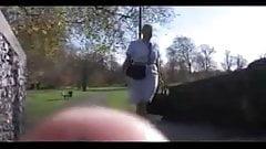 British Airways Stewardess shows her undies