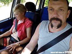 Mirek Takes Mature Busty Whore on Public