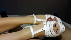 Beautiful amateur  shoejob.footjob