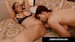 Milf Of The Year Julia Ann Pussy Fucks With Nicki Hunter!