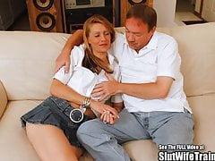 Skinny Blonde Slut Wife Fucks for DVD's Thumb