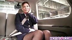 Beauty stewardess Yuna Shiina