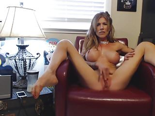 Skinny But Busty Middle Aged Woman Masturbating