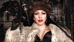 A fur smoking holder Mistress