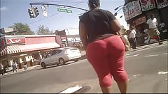 Retro Capture: Monster Candid Phat Black Booty Red Tights