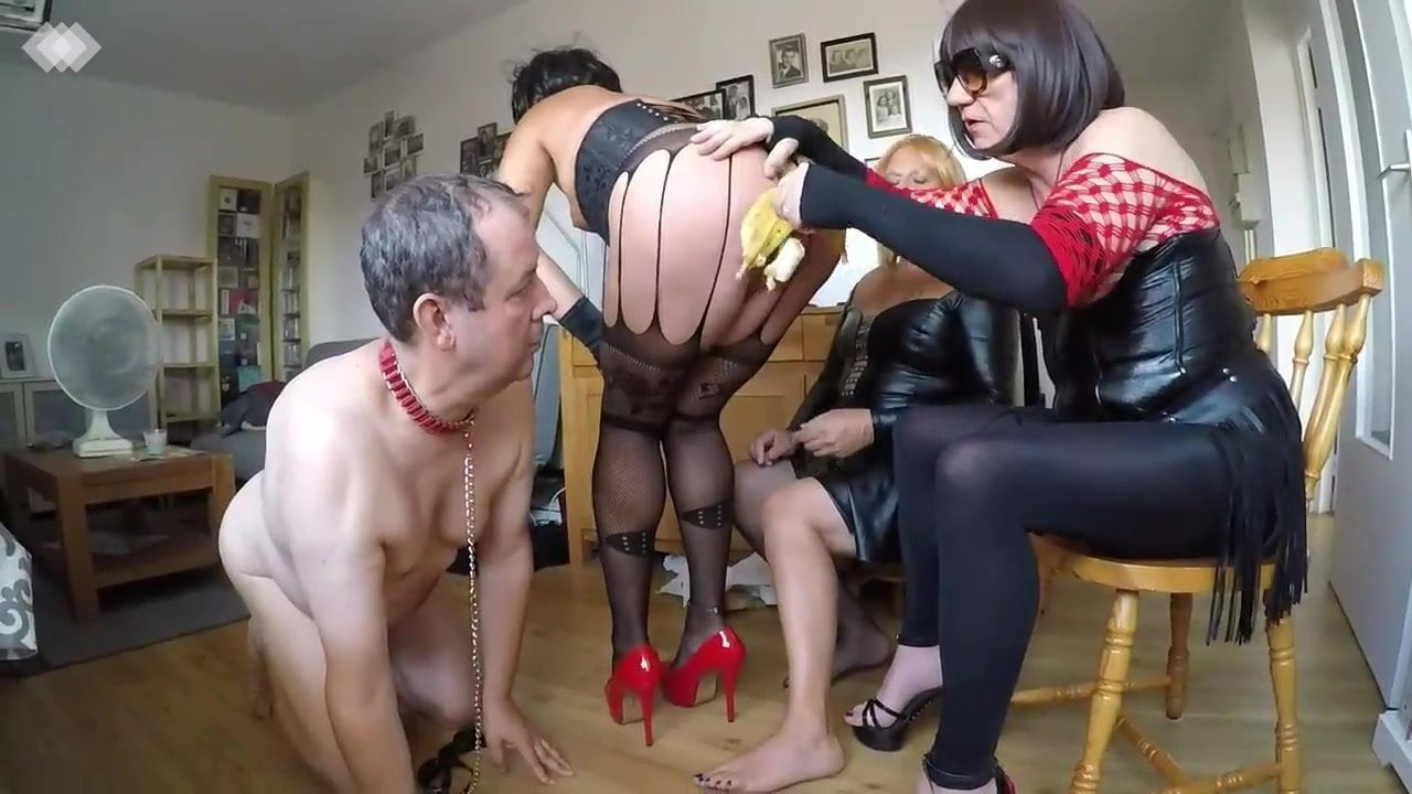 Humiliated by three crossdressers