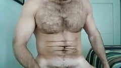 Hairy man jerk off