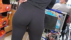 Candid Booty Fitness PAWG at the Marketplace #1