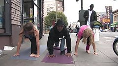 Sexy Milfs Street Yoga Feet