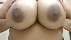 Big Titty Black Woman Plays With Them