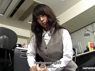 Pantyhosed Asian Babe Smothers Office Coworker With Her Juic