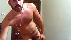 Two turkish hunks wanking on cam