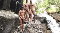 Naked at the Waterfall
