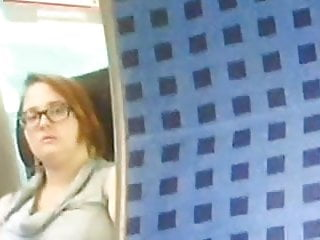 she see me masturbating in the train