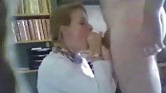 French teacher cum in mouth