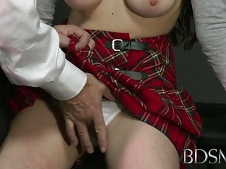 BDSM XXX Ball-gagged submissive girls ass plugged and fucked