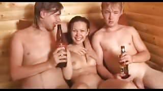 Amateur - Cutie Russian Teen MMF Threesome