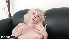 Blonde porn newbie gets railed on the casting couch
