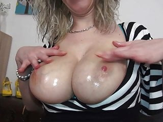 Busty nerd mother with very hungry cunt