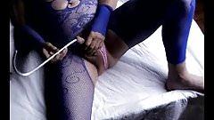 transvestite sissy pantyhose nylon cum sounding urethral toy