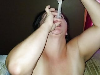 Sexy BBW Fucks with Condom, Sucks Cum Out of It