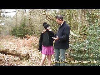 young schoolgirl doing deepthroat