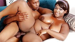 Plump Black Girl Has Her Pussy Plunged by a Cock