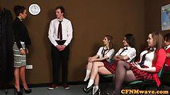 Femdom cfnm teacher humiliate dude in class