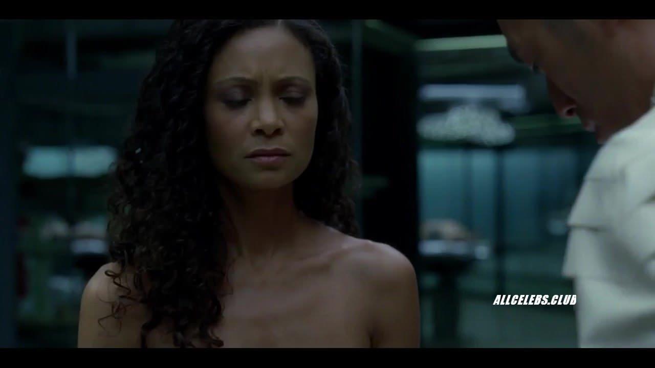 Angela Sarafyan Tits thandie newton in westworld - s01e06
