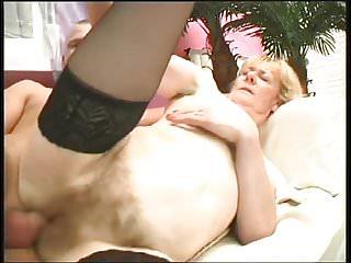 Mature hairy woman fucks 2 - with nice long pussy closeups
