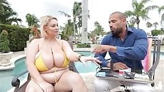 BBW Legend Samantha 38 wear Yellow Bikini in XXX Scene