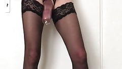 Huge Cock and stockings