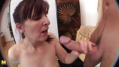 Mature mother fucked by lucky not her son