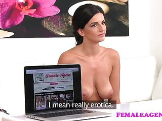 FemaleAgent Busty make up artist gets agent wet and horny