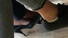 Candid feet and heels at work #1
