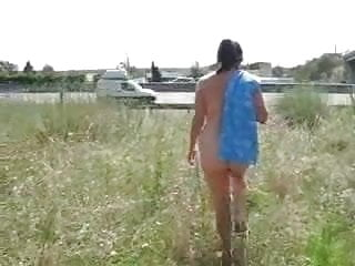 My mature wife showing near motorway. Home video