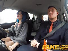Fake Driving School Sexy emo gets her ass pounded