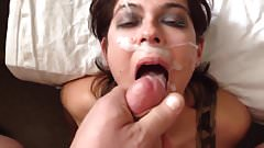 26yr old Trina getting a huge facial